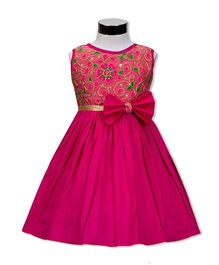 The Kidshop Morning Glory Floral Dress - Fuchsia Pink