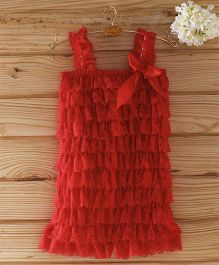The Kidshop Frilly Lace Romper - Red