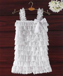 The Kidshop Frilly Lace Romper - White