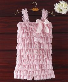 The Kidshop Frilly Lace Romper - Pink