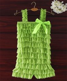 The Kidshop Frilly Lace Romper - Green