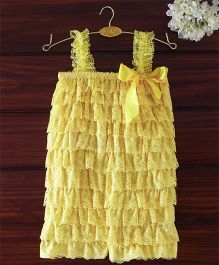 The Kidshop Frilly Lace Romper - Yellow