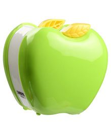 Chrome Apple Shaped Pen Holder - Green