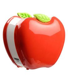 Chrome Apple Shaped Pen Holder - Red