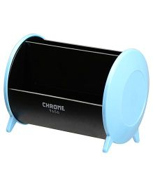 Chrome Pen Cum Card Holder - Blue Black