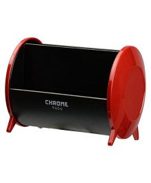 Chrome Pen Cum Card Holder - Red Black