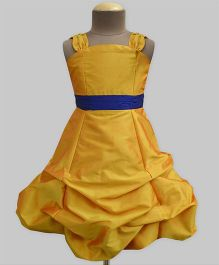 A.T.U.N Ballroom Gown With Belt - Mustard