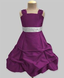 A.T.U.N Ballroom Gown With Belt - Wine