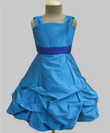 A.T.U.N Ballroom Gown With Belt - Turquoise Blue