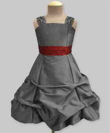 A.T.U.N Ballroom Gown With Belt - Grey