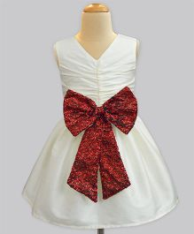 A.T.U.N Sequins Bow Party Dress - White