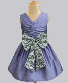 A.T.U.N Sequins Bow Party Dress - Lavender