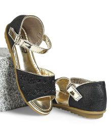 Cute Walk by Babyhug Party Wear Studded Sandal - Black