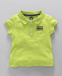 Vitamins Half Sleeves Polo T-Shirt - Green