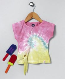 Vitamins Half Sleeves Tee Ombre Design - Multi Colour