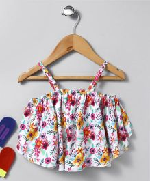 Vitamins Singlet Tube Top Floral Print - Multi Colour