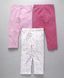 Luvable Friends Baby Leggings Set - Pink & White