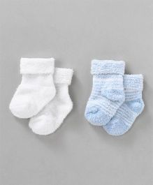 Luvable Friends Striped Socks - 2 Pairs Pack - Blue