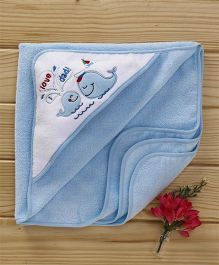 Luvable Friends Love Dad Print Baby Wrappers - Blue