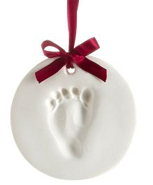 Pearhead Babyprint Ornament Round - White