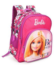 Barbie School Bag With Adjustable Straps Pink - 16 inches