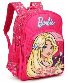 Barbie School Bag With Adjustable Straps Dark Pink - 18 inches