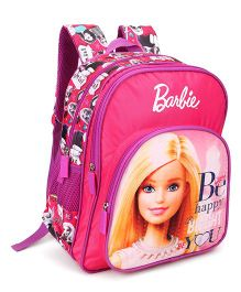 Barbie School Bag With Adjustable Straps Pink - 18 inches