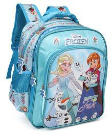 Disney School Bag With Adjustable Straps Frozen Print Blue - 14 inches