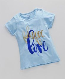 KiddoPanti Faith Hope & Love Print Tee - Lightt Blue