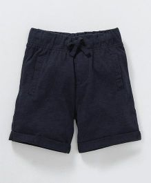 Fox Baby Knee Length Solid Colour Pants - Navy Blue