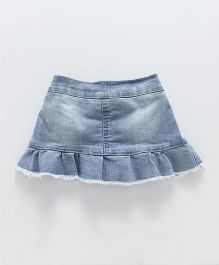 Fox Baby Denim Skirt Layer Pattern - Light Blue