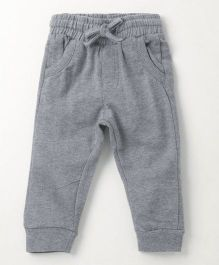 Fox Baby Full Length Lounge Pant With Drawstring - Grey