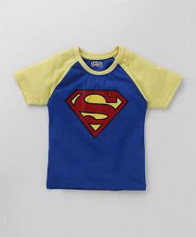 Eteenz Raglan Sleeves T-Shirt Superman Print - Royal Blue