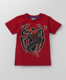 Eteenz Half Sleeves T-Shirt Spider-Man Print - Red