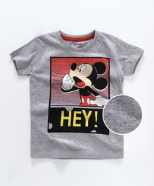 Mickey Mouse And Friends Half Sleeves Tee Printed - Grey