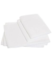 Tinycare Cloth Square Nappy Extra Large White - Set Of 5