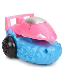 Playmate Wind Up Car Toy - Silver Pink