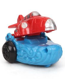 Playmate Wind Up Air Plane Car Toy - Red Silver Blue