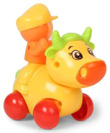 Playmate Wind Up Toy Cow - Yellow