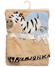 Abracadabra -  Plush Luxury Blanket - Zebra