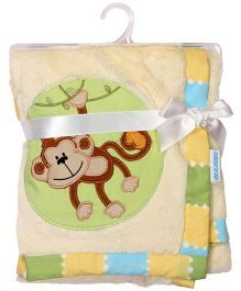 Abracadabra -  Plush Luxury Blanket  Monkey