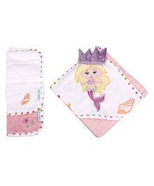 Abracadabra - Set Of Hooded Towel And Wash Cloth Mermaid
