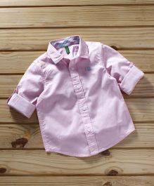 UCB Full Sleeves Solid Color Shirt - Pink