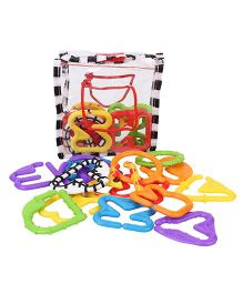 Sassy A to Z Letter Links - Multi Color