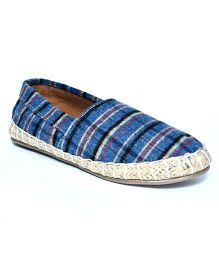 Teddy Toes Stripes Espadrilles - Blue