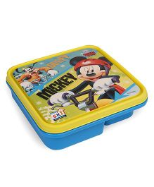 Disney Mickey & Friends Lunch Box With 3 Compartments & Spoon - Yellow Blue