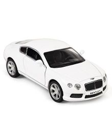 RMZ Die Cast & Pull Back Bentley GT V8 Toy Car - White