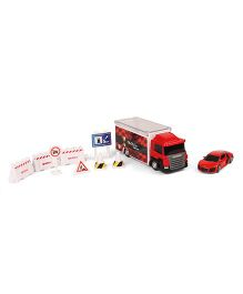 RMZ Scania Truck Launcher With Audi R8 - Red