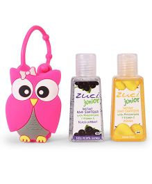 Zuci Instant Junior Hand Sanitizers With Owl Bag Pack of 2 - 30 ml (Flavours May Vary)