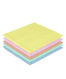 Lula Reusable Muslins Squares Pack of 5 - Multi Color